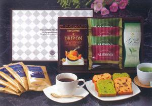 六本木アマンド・フルーツケーキ・抹茶ケーキ・ティーバッグ煎茶・ドリップコーヒーセット